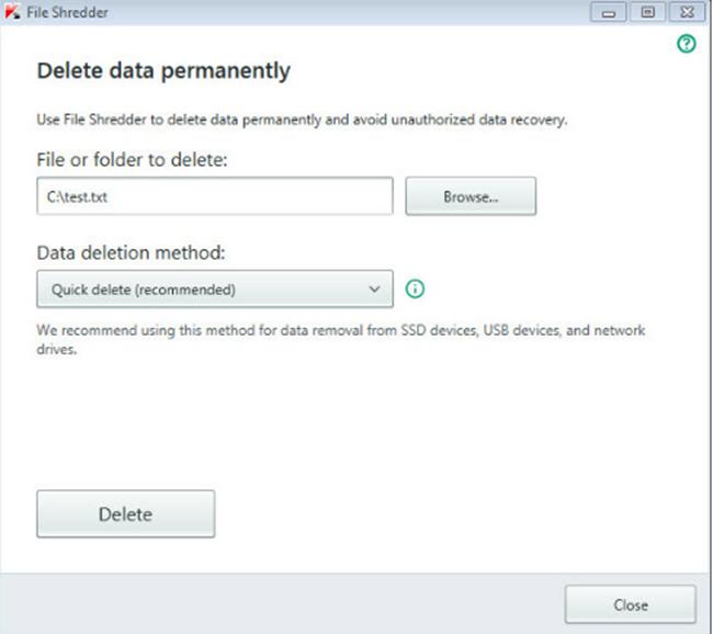 Permanently Delete Files