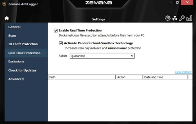 Zemana AntiLogger Cloud-based Protection