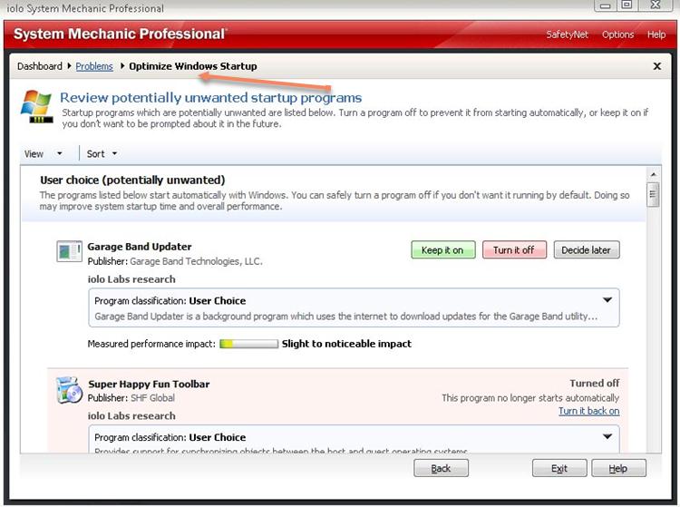 Optimize Windows Startup